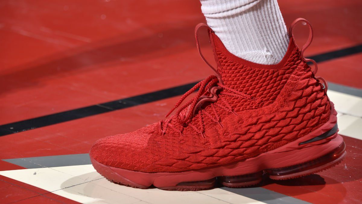 lebron 15 red ohio state