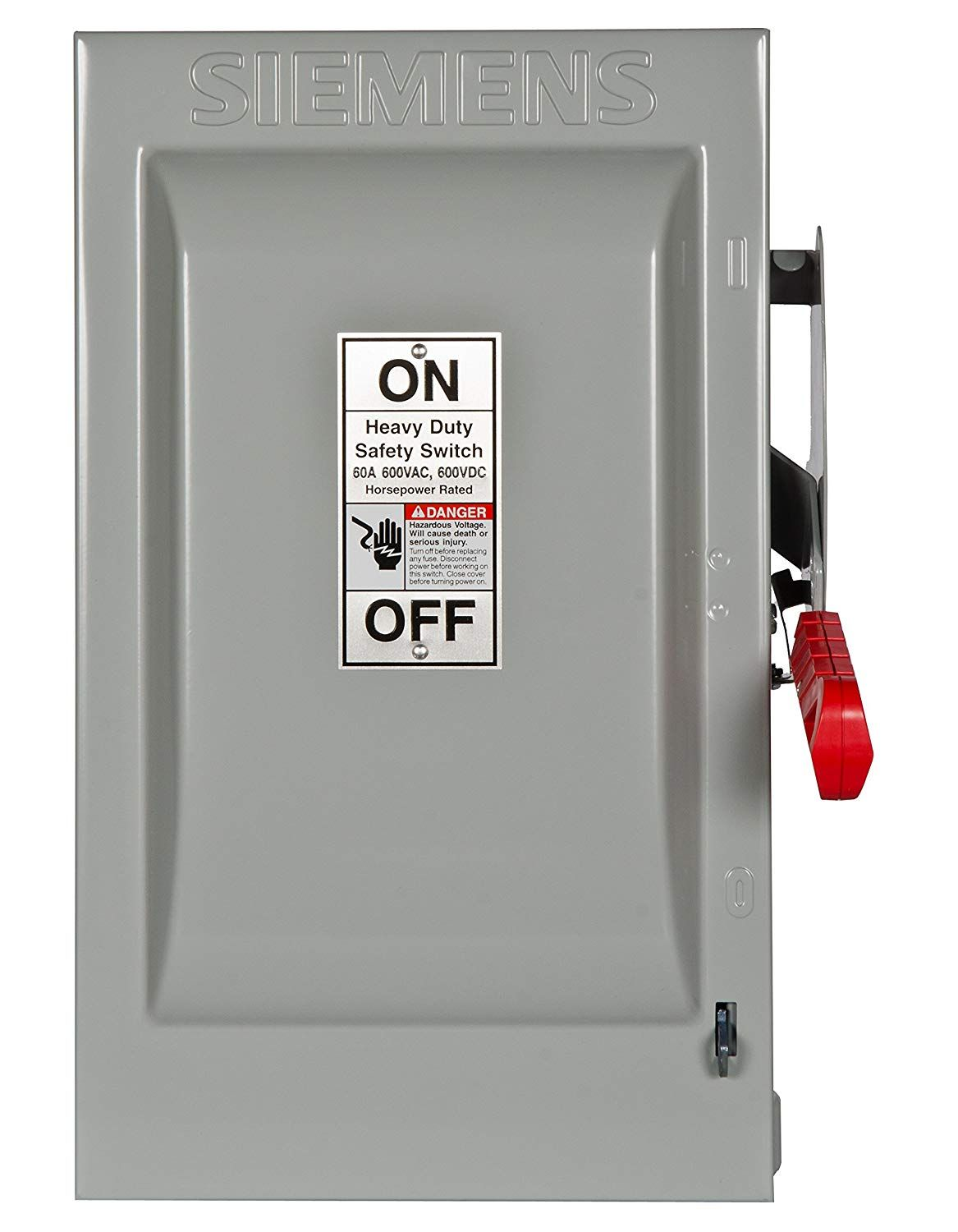 Siemens Hf362 60 Amp 3 Pole 600 Volt 3 Wire Fused Heavy Duty Safety Switches Click Image For More Details This Is An Affil Safety Switch Siemens Switches