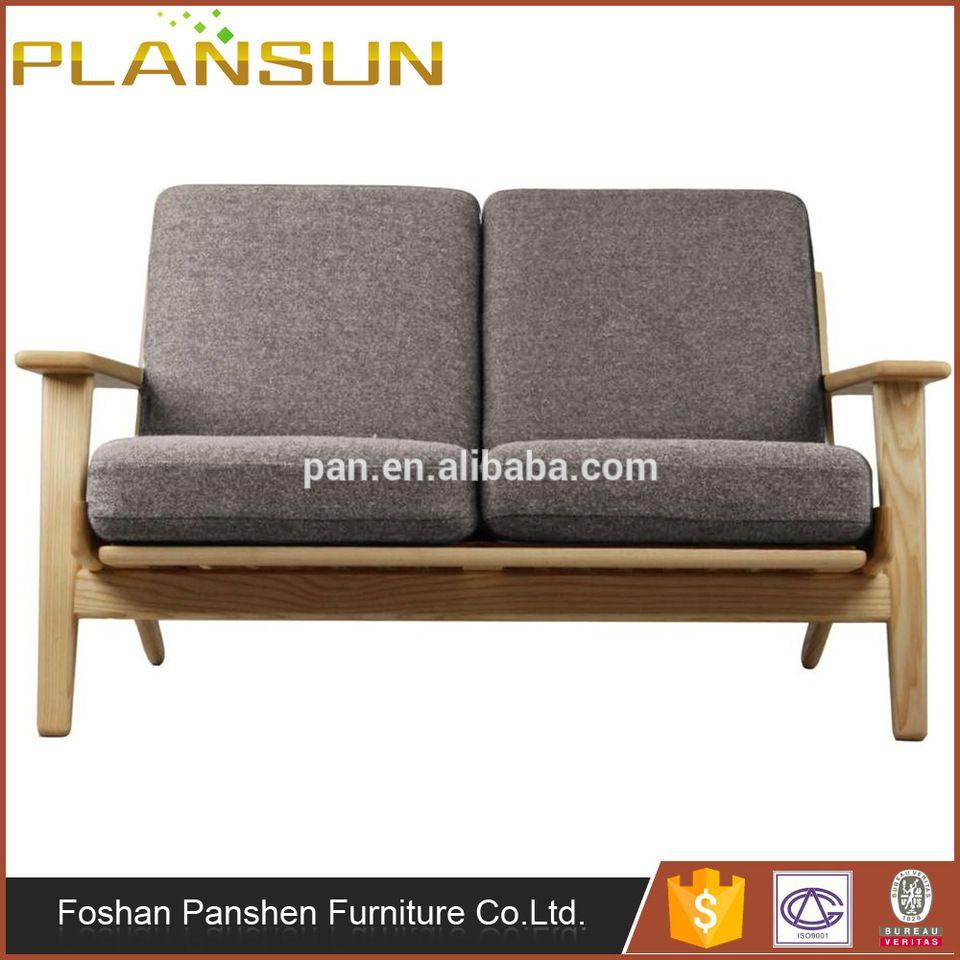 Scandinavian furniture factory direct GE 290 Wegner Plank loveseat