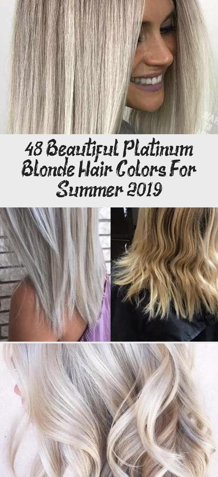 48 Beautiful Platinum Blonde Hair Colors for Summer 2019 - Latest Hair Colors#be...,  #Beautiful #Blonde #Colors #Colorsbe #Hair #Latest #Platinum #Summer