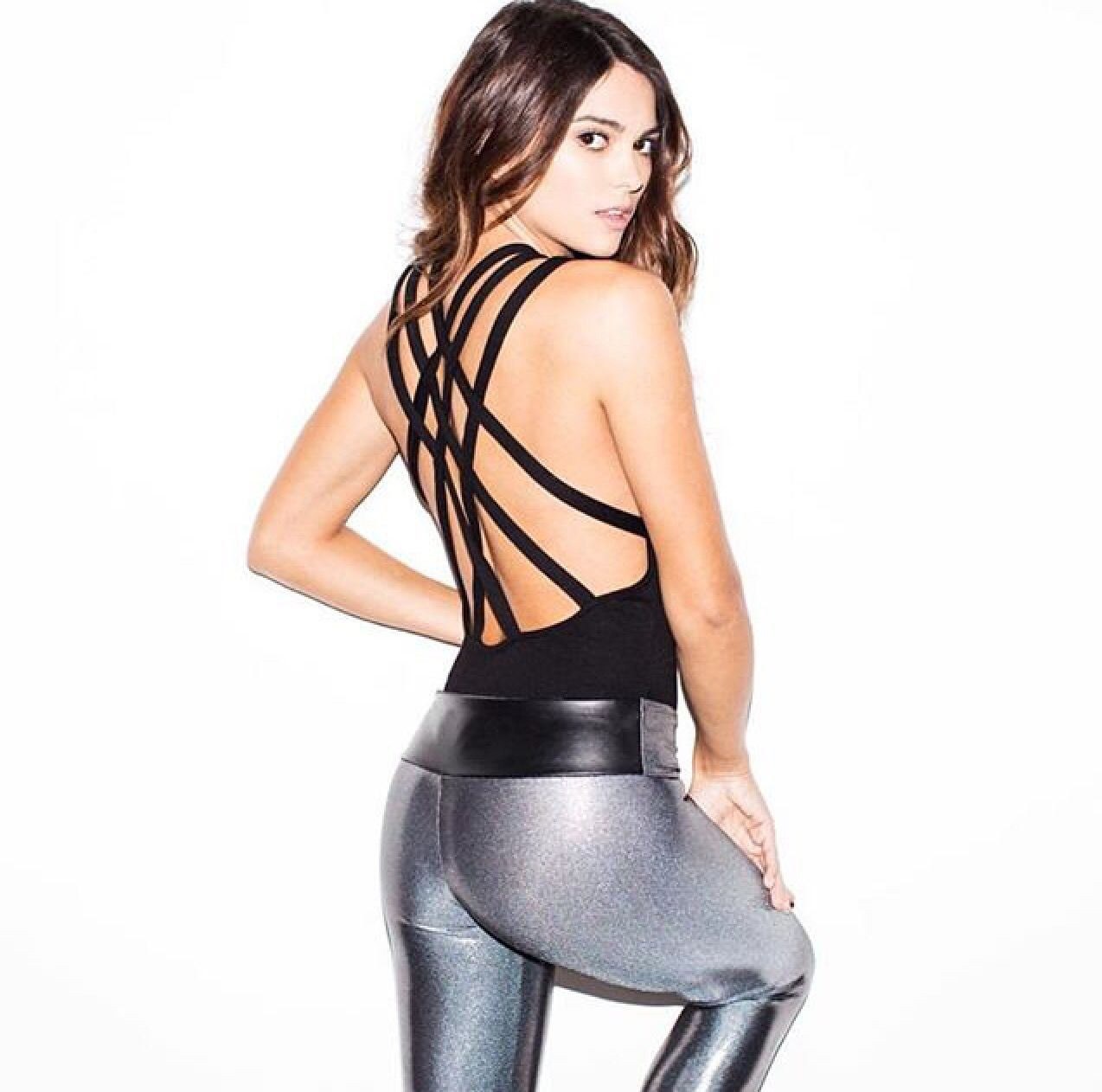 f0174f5030ae7 Suki Leatherback Long Leggings in Chrome