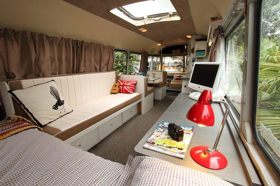 bedford bus canned ham pinterest school bus rv bus conversion rh pinterest com cool house buses cool bus house