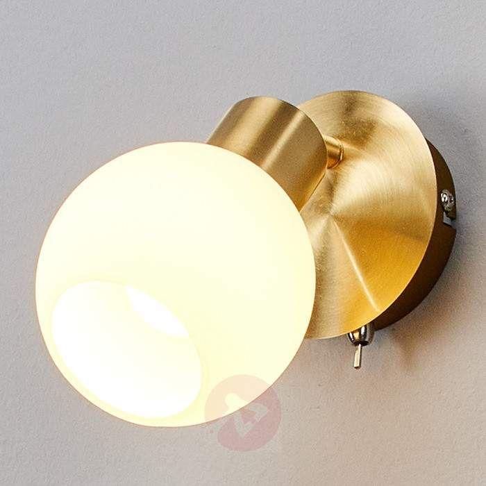 Elaine LED-væglampe med en lampe, messing-9620018-30