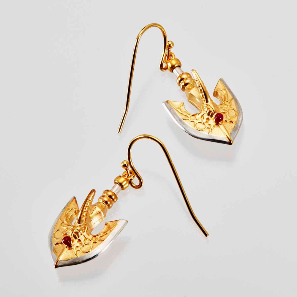 The Golden Arrow Earrings Jojo S Bizarre Adventure Golden Wind Premium Bandai U S A Anime Earrings Jojo Bizarre Arrow Earrings The stand arrow is a main consumable item in jojostands. pinterest