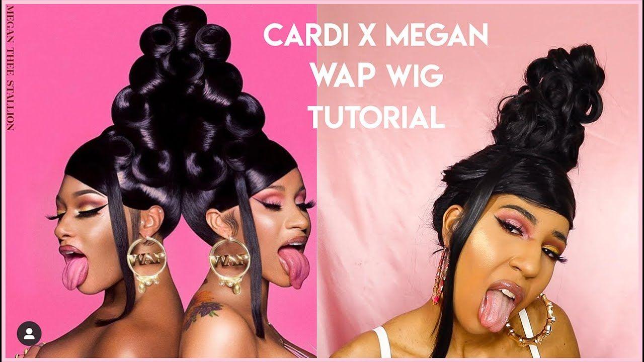 Cardi B Wap X Megan Thee Stallion Hair Tutorial Tehja In 2020 Hair Tutorial Cardi B Hair