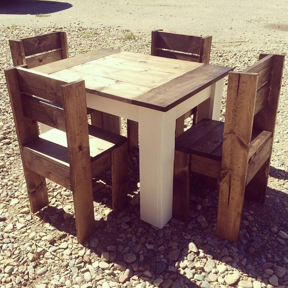 Kid table and chairs wood - 2x4 Kids Table And Chairs