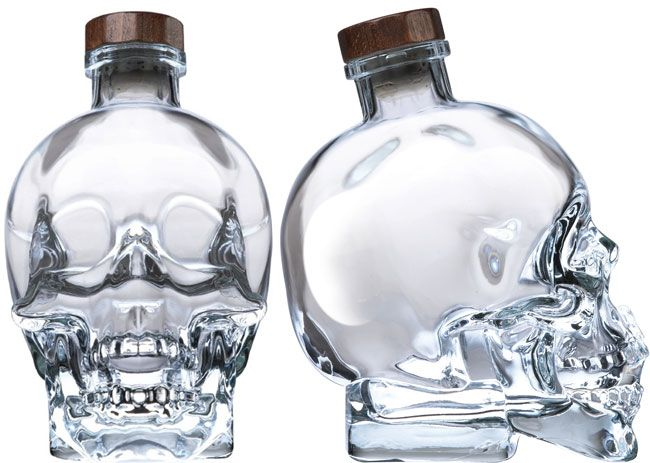 Crystal Head Vodka. The coolest alcohol bottle ever, except maybe that one tequila that comes in a glass bottle shaped like a gun.....