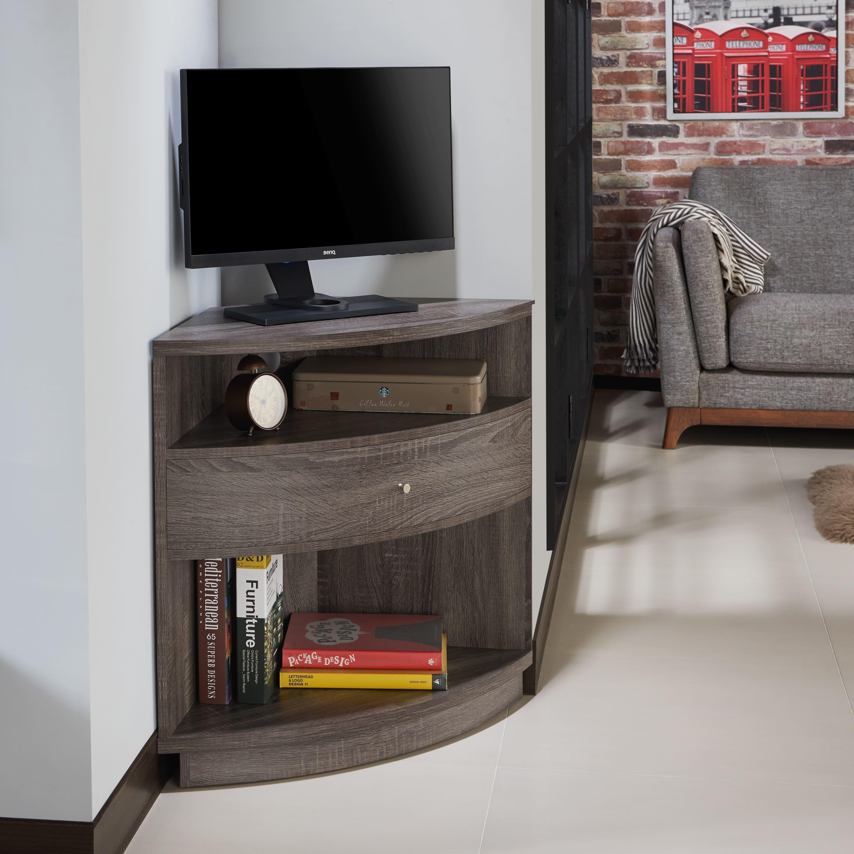 The Gray Barn Elsinora Multi Shelf Corner Buffet Tv Cabinet Living Room Corner Furniture Corner Storage Cabinet Living Room Corner