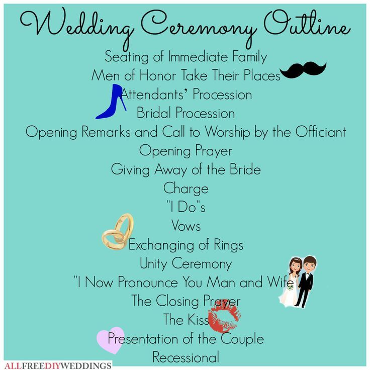 The Wedding Ceremony Outline Spelled Out Clearly