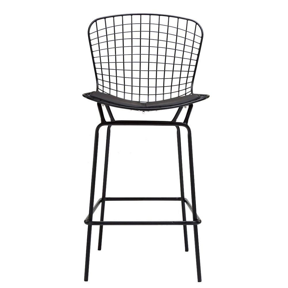 Beau Replica Bertoia Wire Bar Stool   Black Frame   Bar Stools | Interiors Online    Furniture Online U0026 Decorating Accessories
