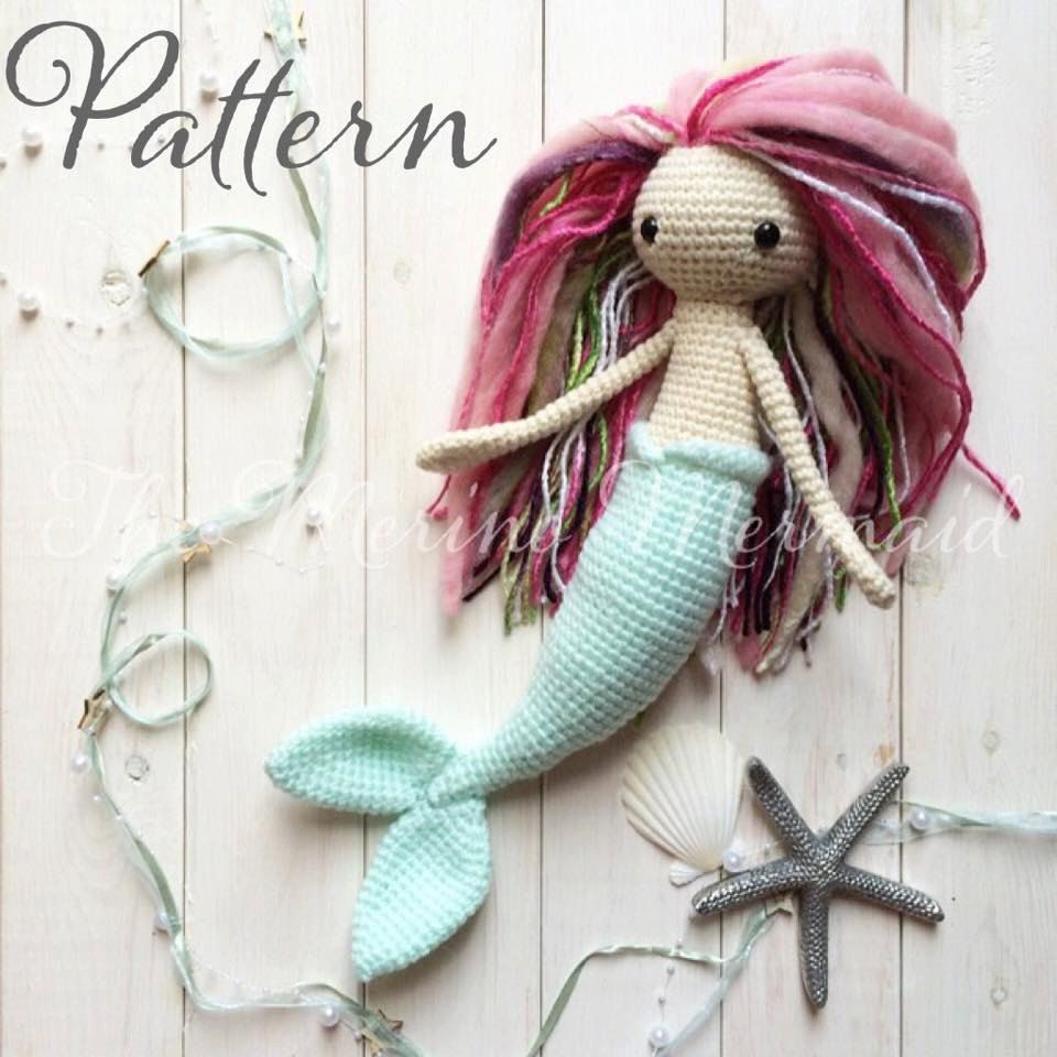 Miriam the Mermaid Crochet Amigurumi Doll Toy Pattern pdf E-book ...