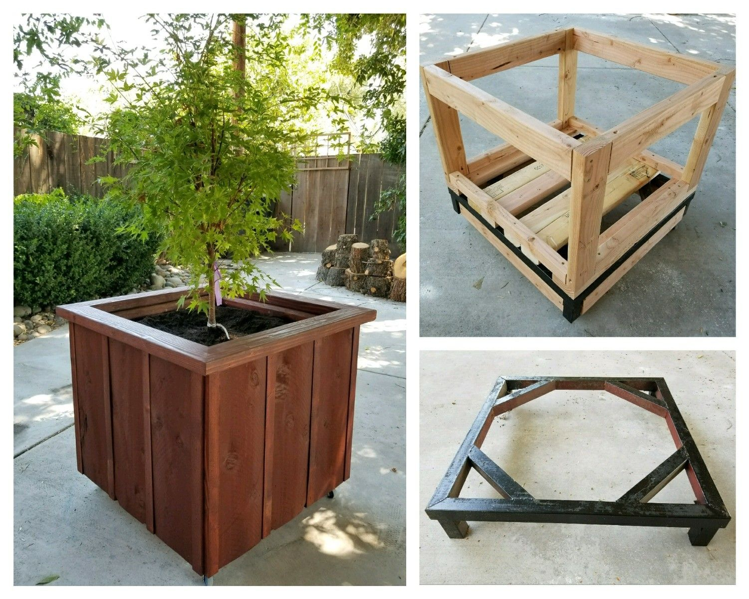 Diy Planter Box With Casters For Japanese Maple 27 Wx27 Lx30 H