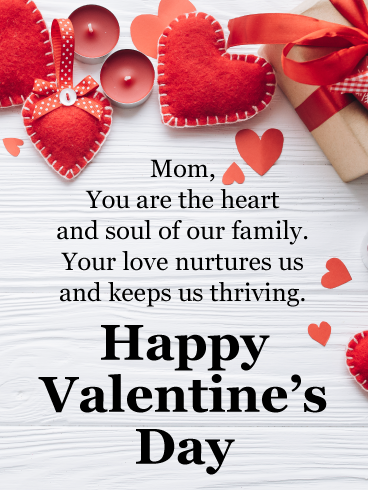 Mom You Are The Heart And Soul Of Our Family Your Love Nurtures Us