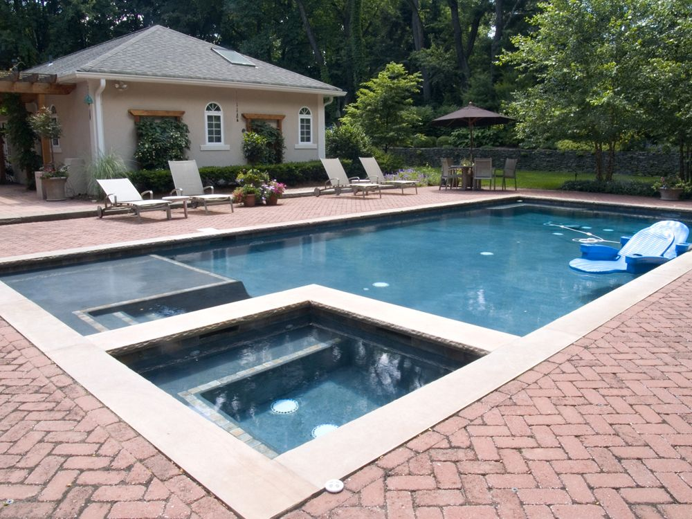 Swimming Pool Water Features Bergen County Nj Backyard Pool