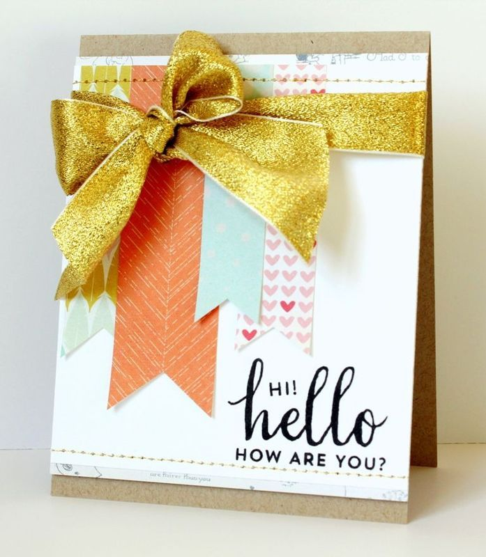 Hello! How are you? card (Main card kit only) by melissah3 at @studio_calico