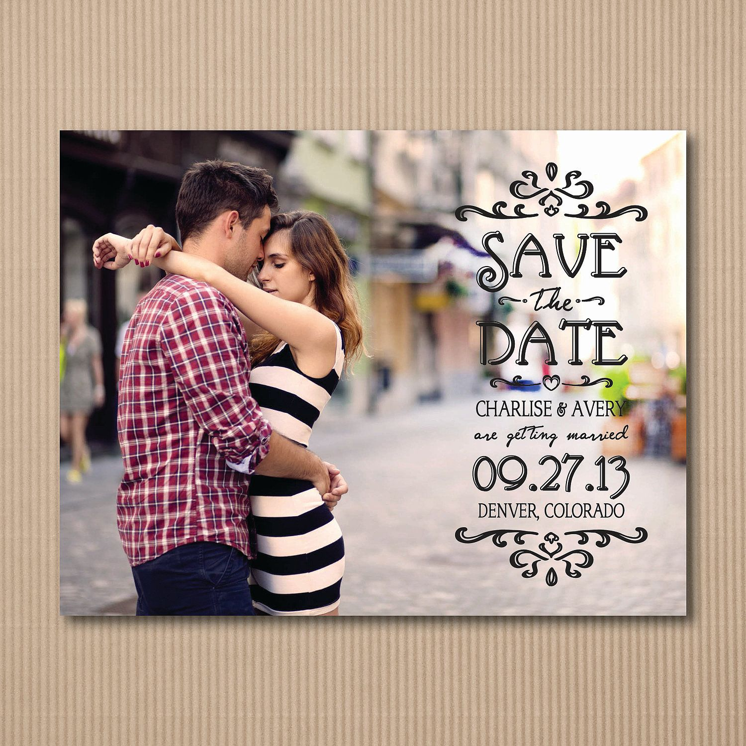 Photo Save the Date Postcard -  Modern Engagement Announcement - 100 Cards or Postcards. $99.00, via Etsy.