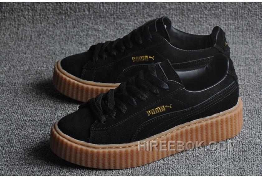 Discover the Puma X Rihanna Suede Creeper Black Gum 2019 group at  Pumafenty. Shop Puma X Rihanna Suede Creeper Black Gum 2019 black 9b7d58826