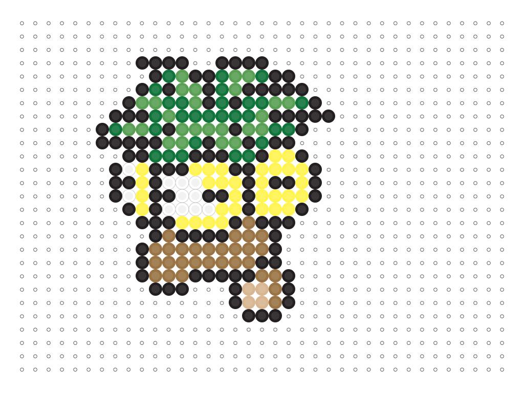 Exeggutor Perler Pokemon perler beads, Pokemon cross