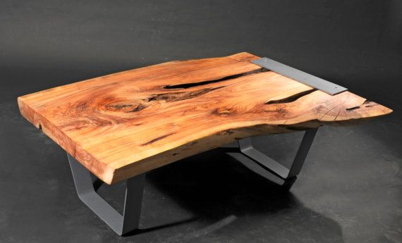 Cypress live edge coffee table table salon pinterest for Cypress slab coffee table