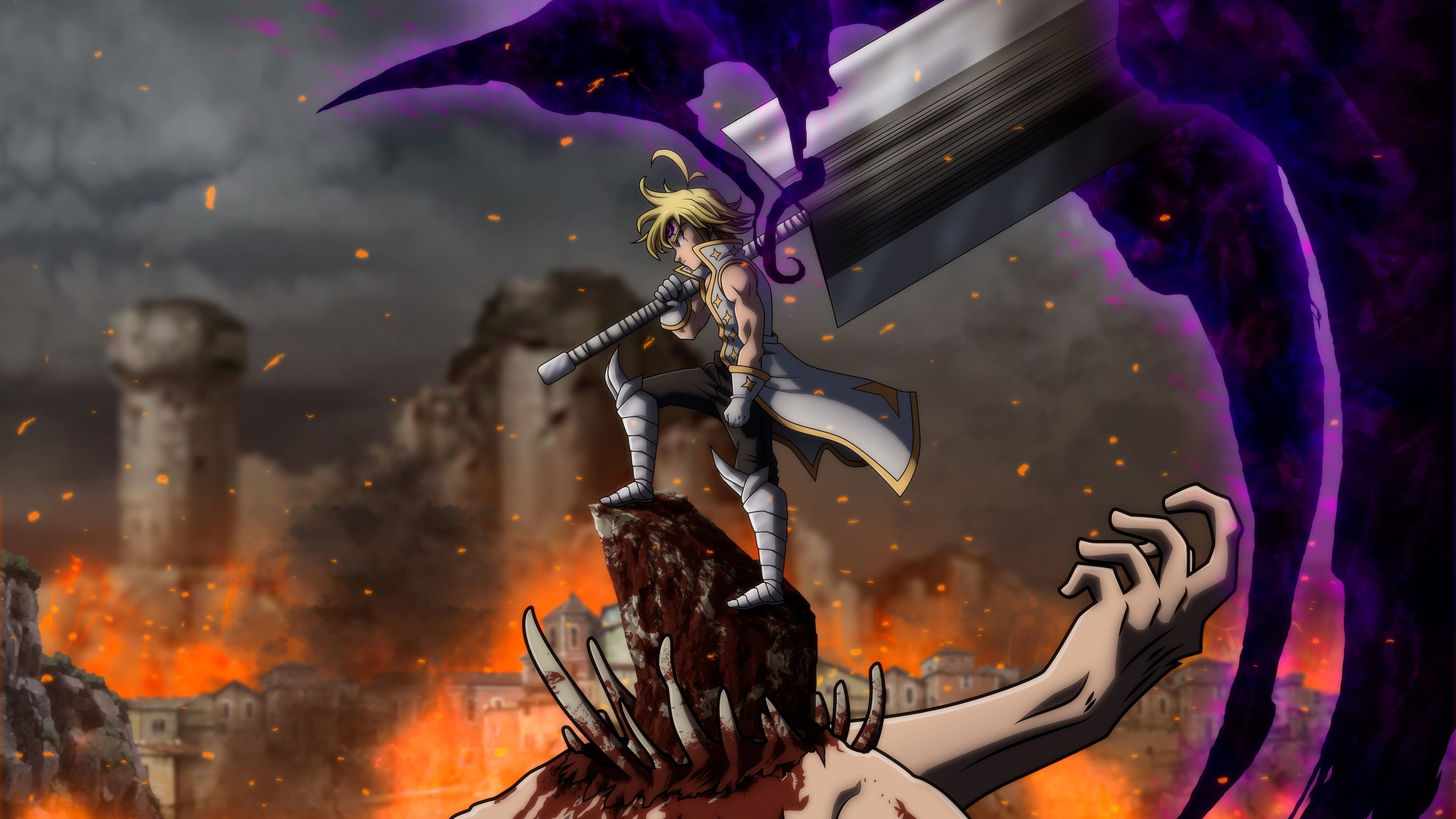 Anime The Seven Deadly Sins Demon King The Seven Deadly Sins Meliodas The Seven Deadly Sins 4k Wall In 2020 Seven Deadly Sins Anime Seven Deadly Sins Demon King