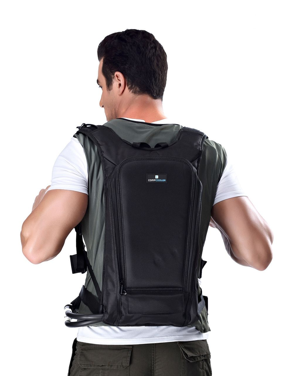 Personal Microclimate Body Cooling Vest With Backpack Ice Bottle