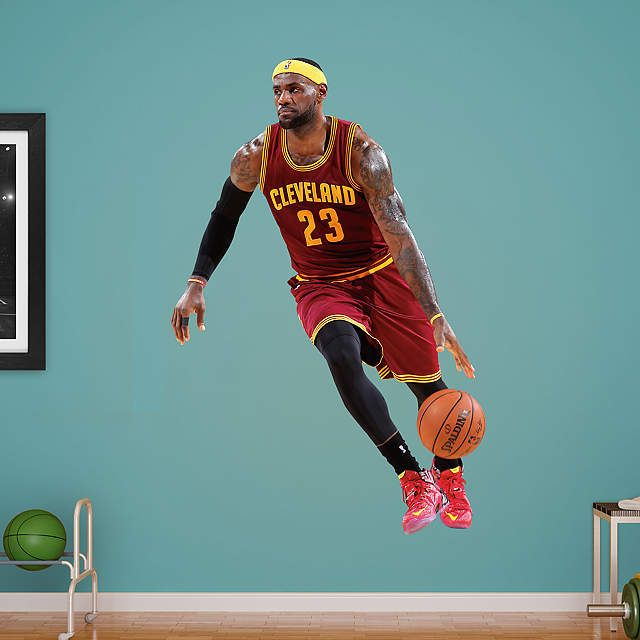 Life Size Lebron James No 23 Wall Decal Shop Fathead For