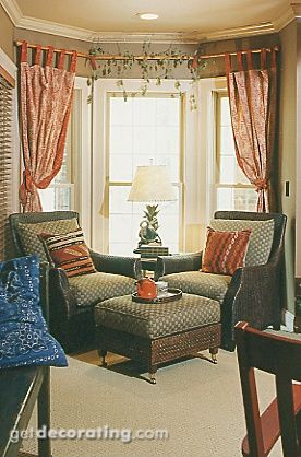 curtains for the bay window in the formal dining room | Home ...