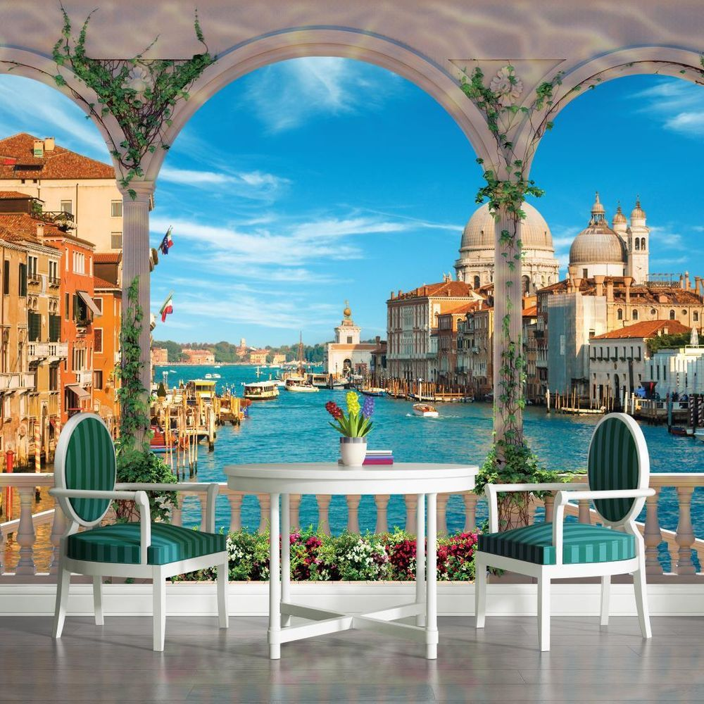 Arches Venice Grand Canal View Wallpaper Wall Mural