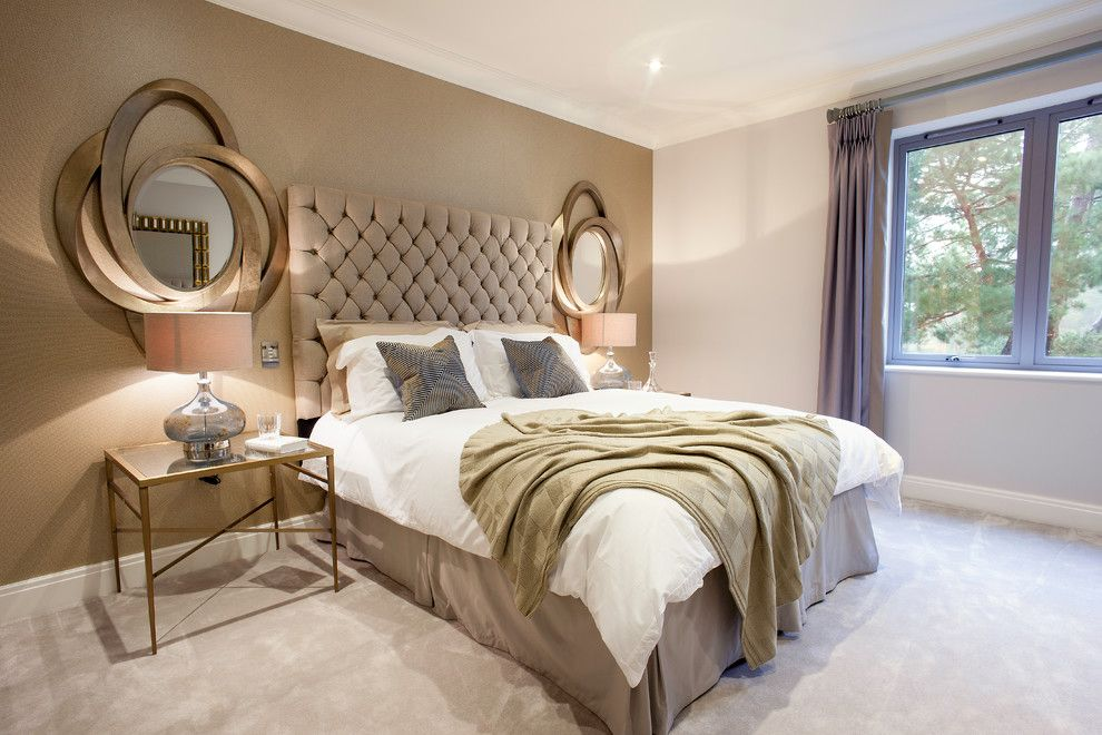 taupe bedroom bedroom traditional with white kitchen