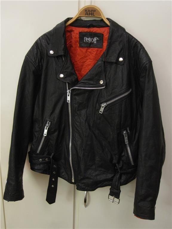 4506216076c0 vintage mc-skinnjacka Petroff, sleaze, hårdrock, retro, punk på Tradera.