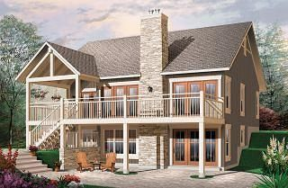 Bay Breeze 3 Craftsman Cottage house plan rustic cathedral