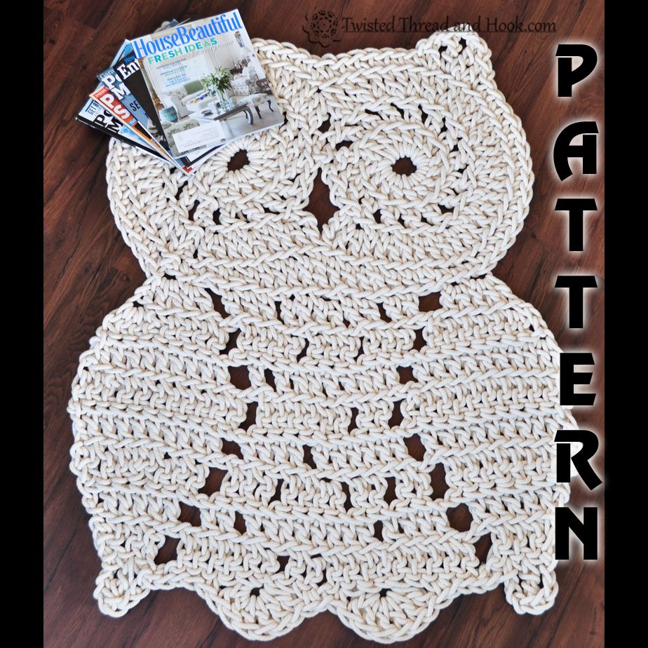 Rope owl rug pattern crochet pattern owl decor baby blanket rope owl rug pattern crochet pattern owl decor bankloansurffo Image collections