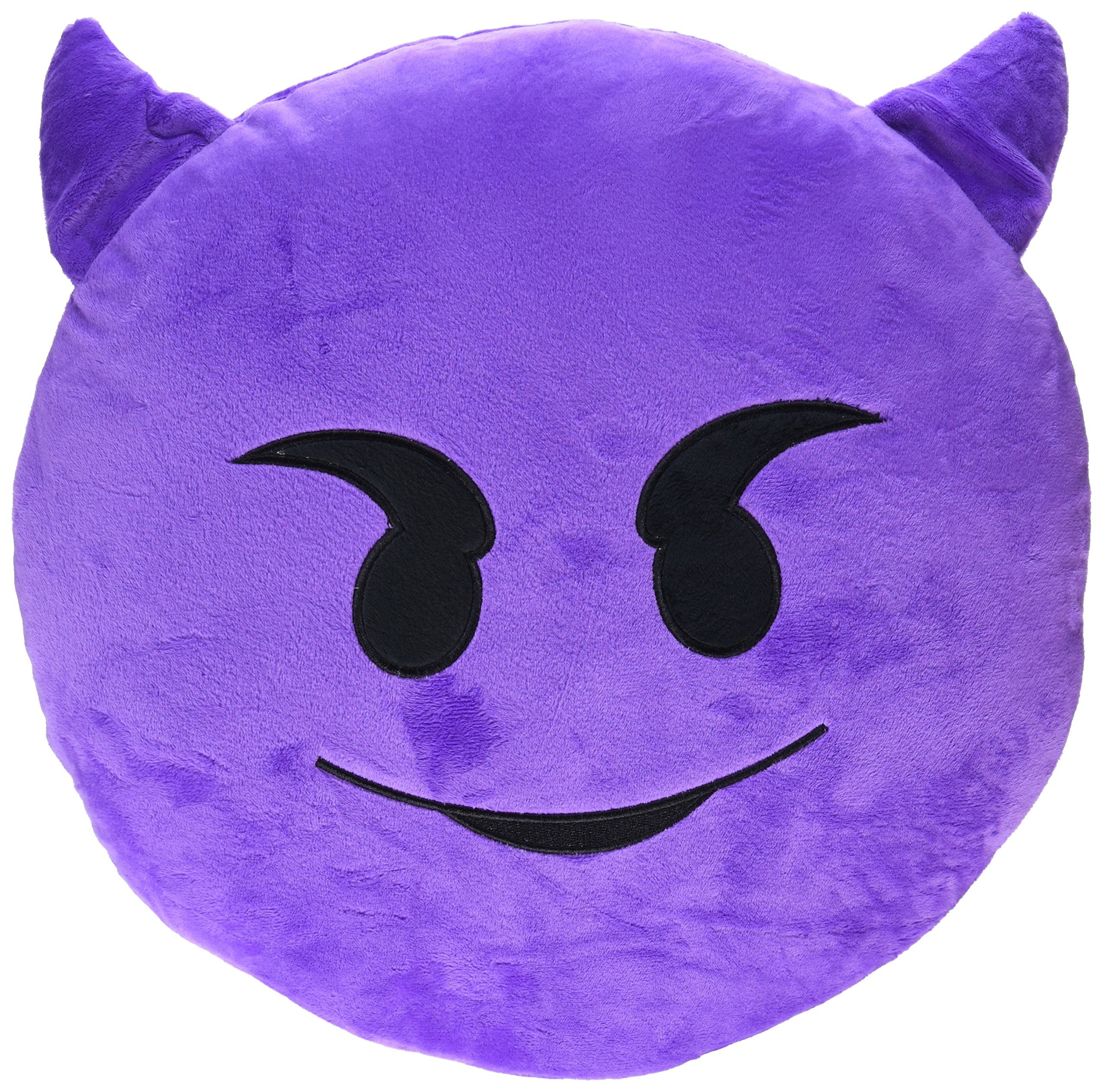 Bigoct emoji smiley emoticon round cushion stuffed pillow
