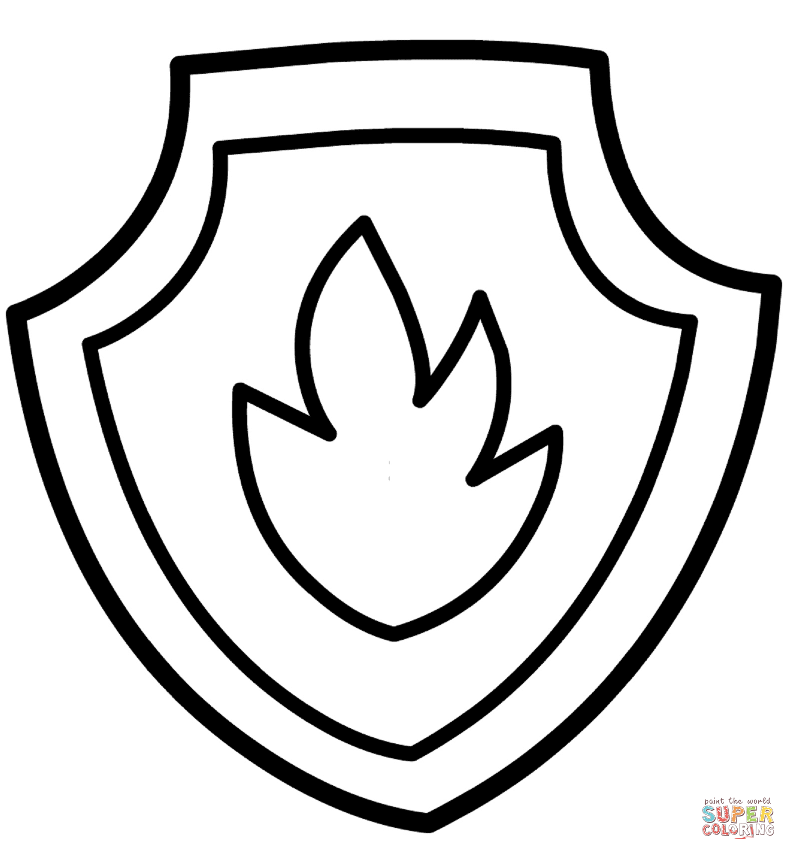 paw patrol badge black and white <b>paw patrol</b> marshall's <b ... - Firefighter Badges Coloring Pages
