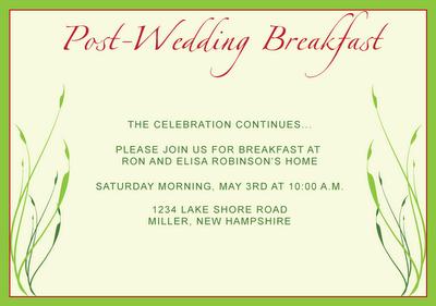 Post Wedding Breakfast Wedding Brunch Invitations Brunch Wedding Wedding