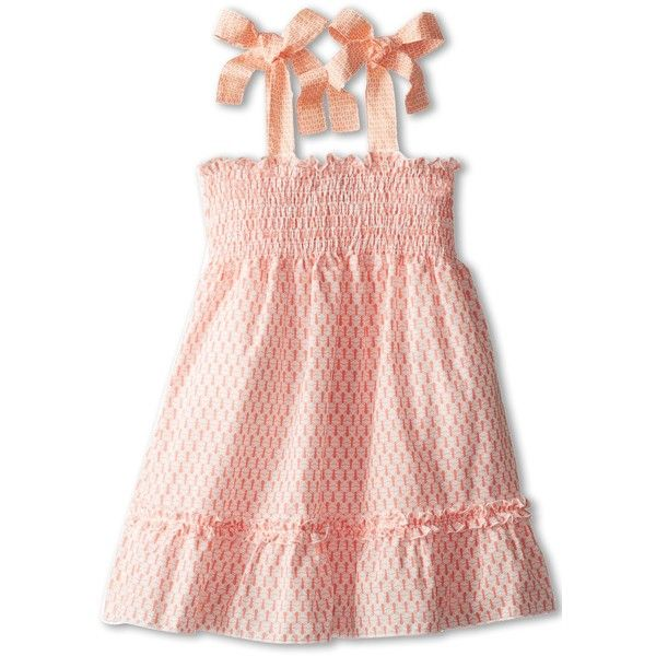 958e66417f75 Fendi Kids Girls Smocked Dress With Bow Straps (Toddler) ( 306) ❤ liked on  Polyvore featuring baby