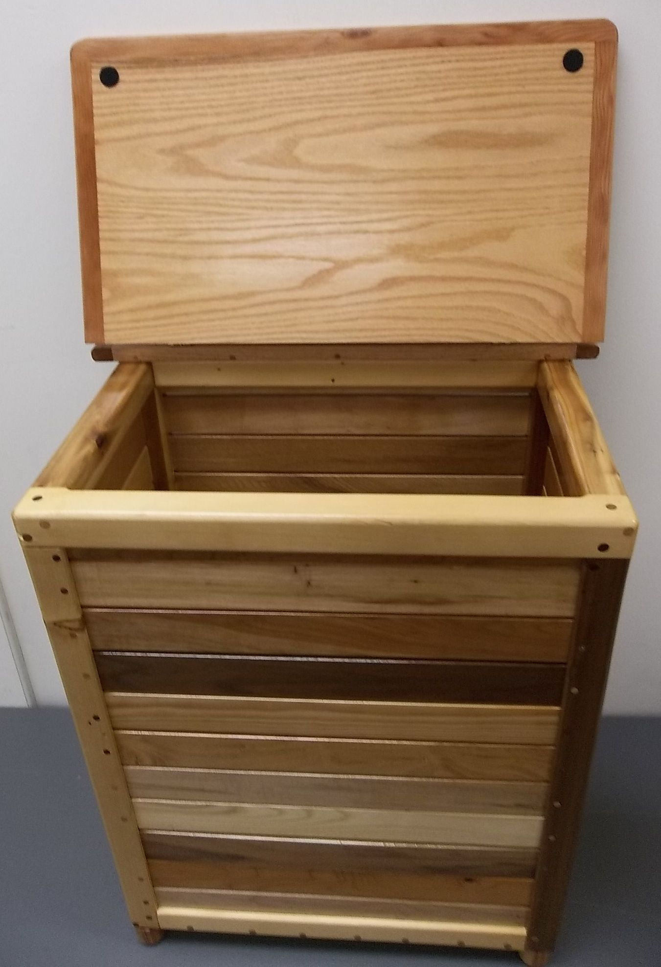 Exceptional Nice Wood Laundry Hamper With Simple Canadian Baseball Handcarved Wooden  Laundry Design