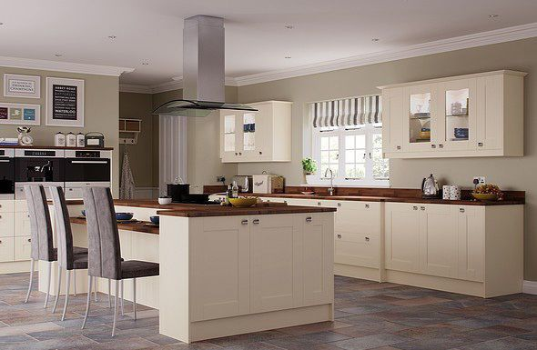 Ivory Cream Kitchen Complete Fitted Units New Not Used Or Ex