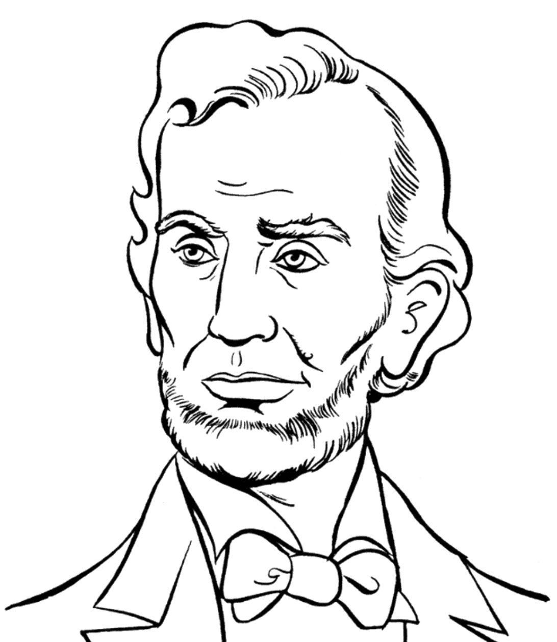 abraham lincoln presidents day coloring pages - Coloring Page Abraham Lincoln