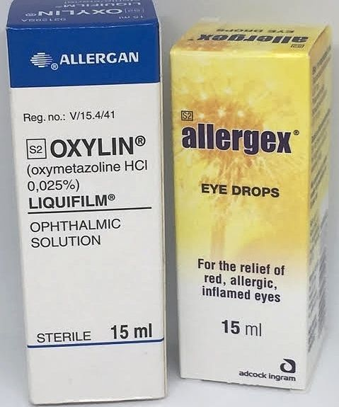 1 Allergex 1 Oxylin Oxymetazoline Hcl Eye Drops Similar To