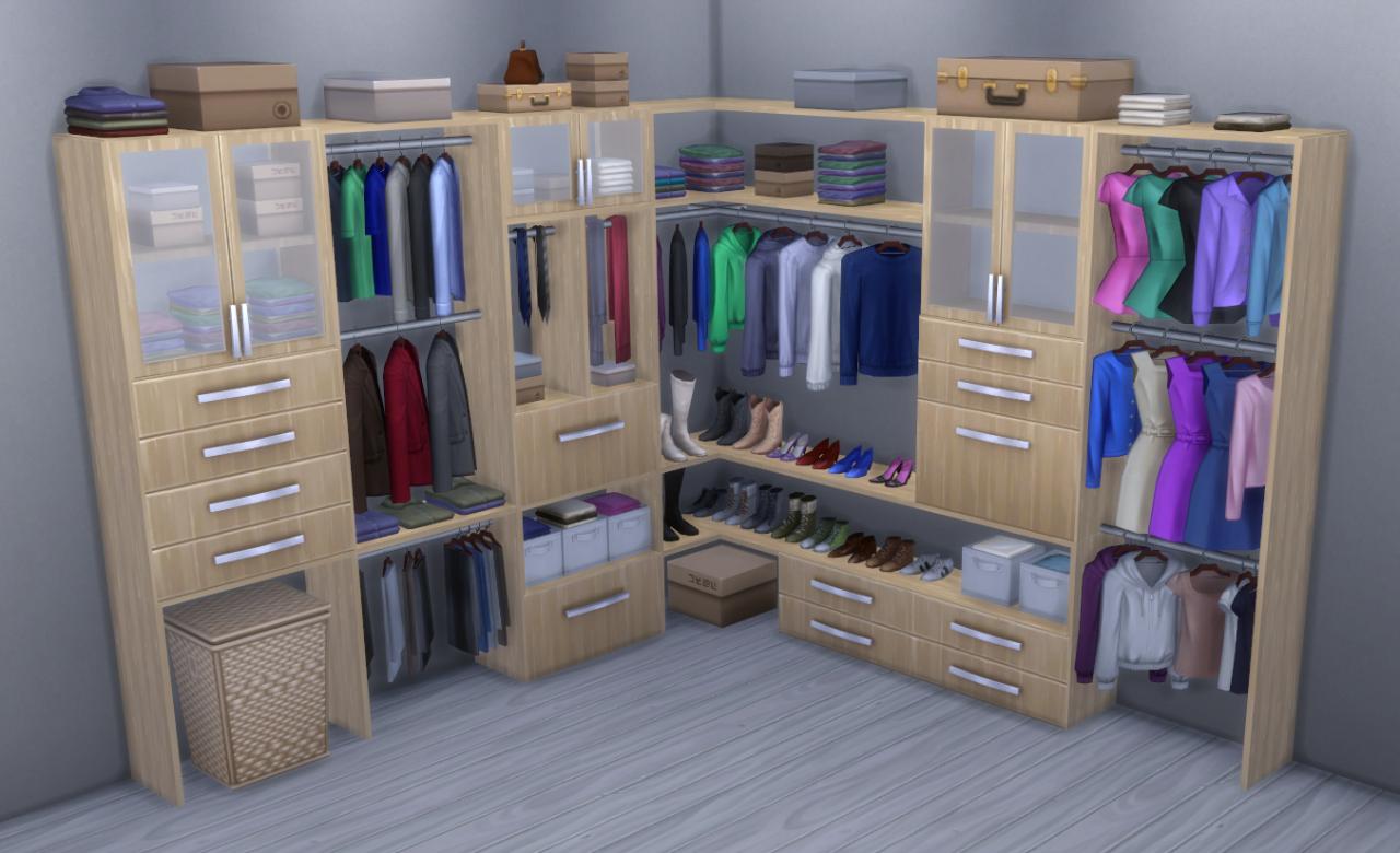 Alpha Beta Phong Modular Closet System Brazen Lotus Sims 4 House Design Sims 4 Bedroom Modular Closet Systems,Very Small Narrow Bathroom Ideas