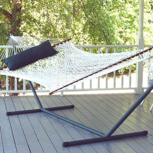 island bay xl rope double hammock with 15 ft  steel hammock stand   dp118 island bay xl rope double hammock with 15 ft  steel hammock stand      rh   pinterest
