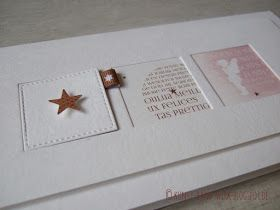 Das ist meine Lieblingskarte aus der Weihnachts-Serie rosé-kupfer ...     mich erinnert es an die Türchen eines Adventskalenders. :-))     ...