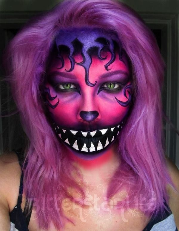 cheshire-cat-halloween-makeup-face-paint   Costumes   Pinterest ...