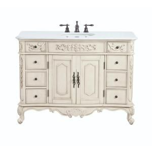 Home Decorators Collection Winslow 48 In W Bath Vanity In Antique