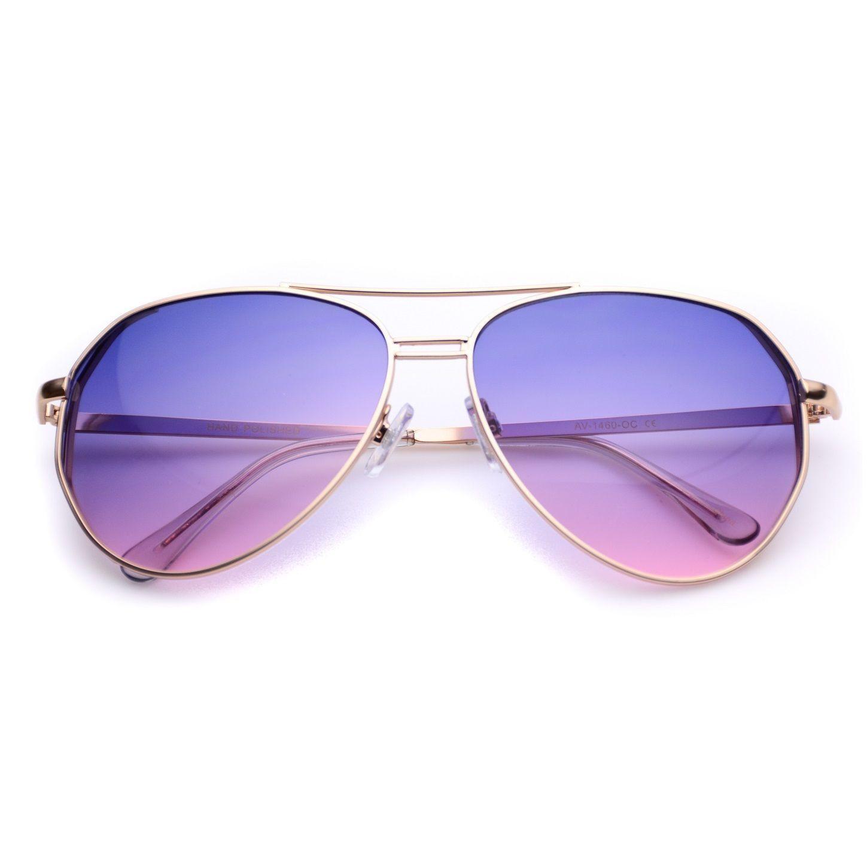 3113fc77e45 Yolanda Geometric Elegant Aviator Sunglasses