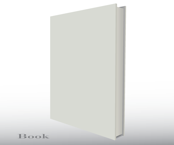 Blank Empty 3d Book Cover Free Vector Template | Pinterest | Book ...
