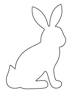 Sitting Bunny Pattern Use The Printable Outline For Crafts Creating Stencils Scrapbooking