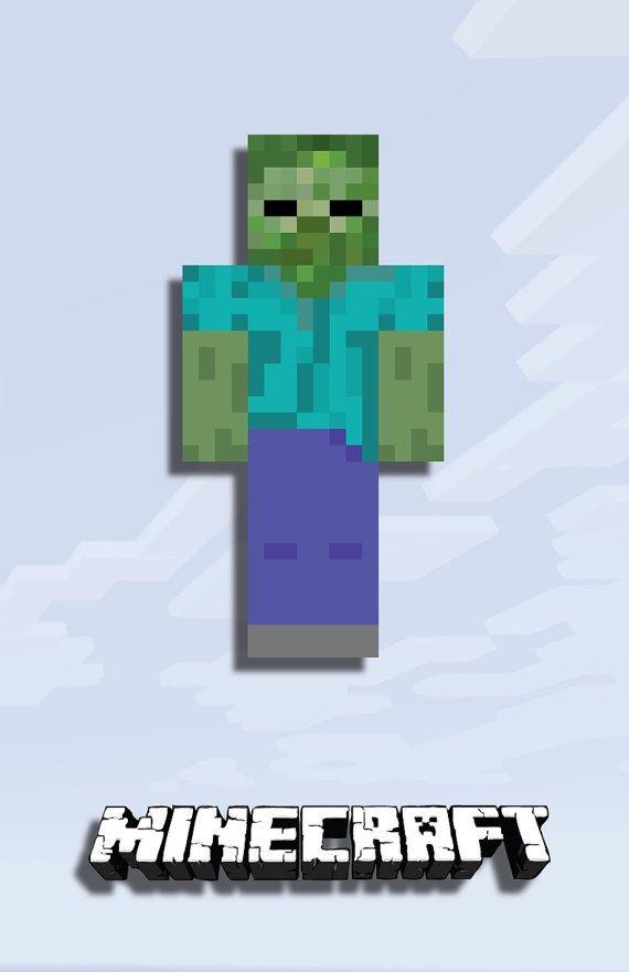 Zombie Poster By Arduosity On Etsy Minecraft Pinterest - Minecraft zombie spielen