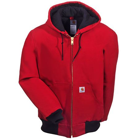 Carhartt Clothing Men's J140 RED USA Made Flannel Lined ...